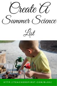 Create a Summer Science List