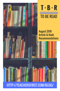 August 2016 Book Recommendations