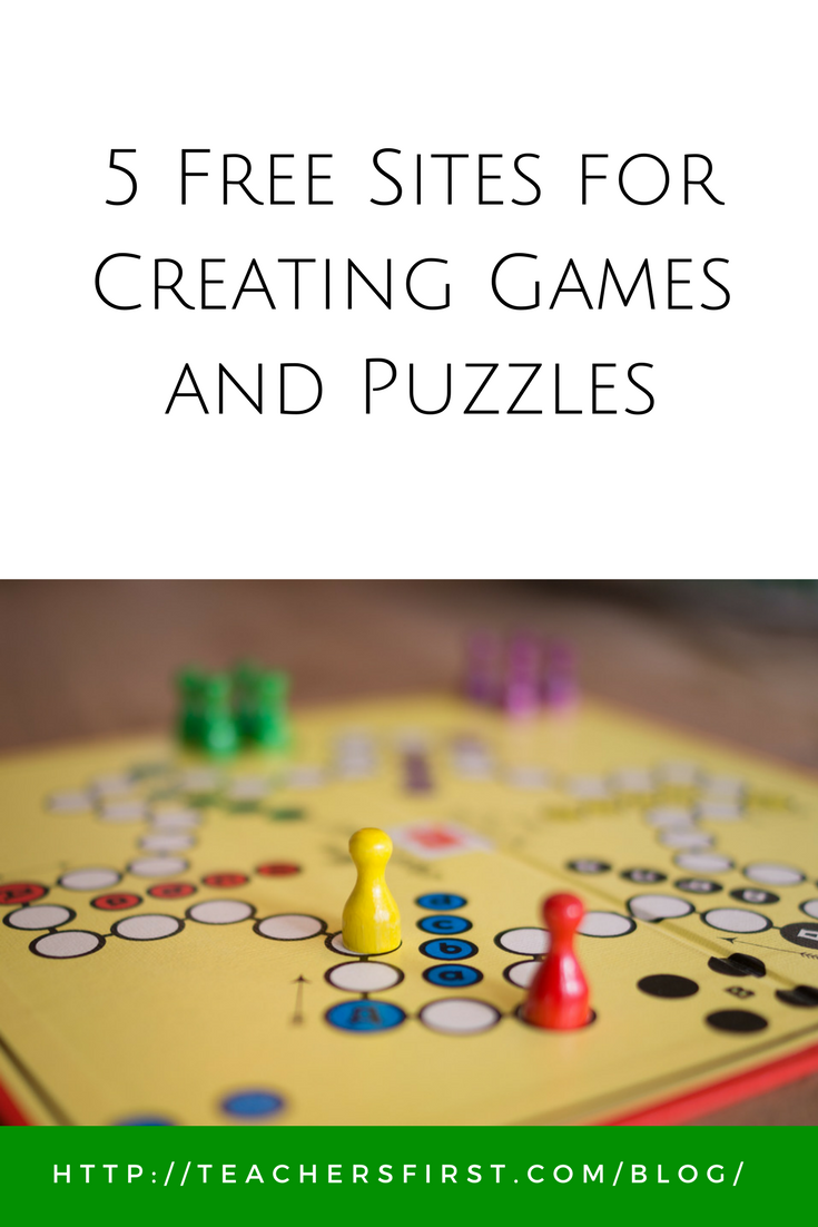 5 Free Sites for Creating Games and Puzzles – TeachersFirst Blog