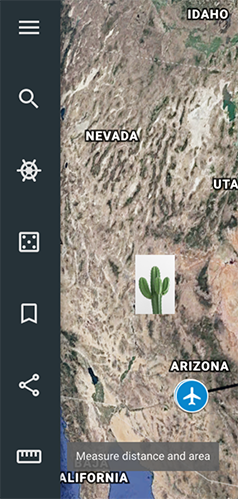 Google Earth Left Sidebar